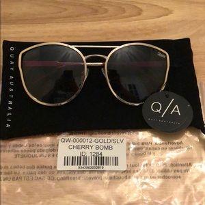 Quay Gold Cherry bomb sunglasses